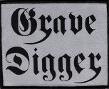 "Grave Digger ""Black Logo White"" Patch"